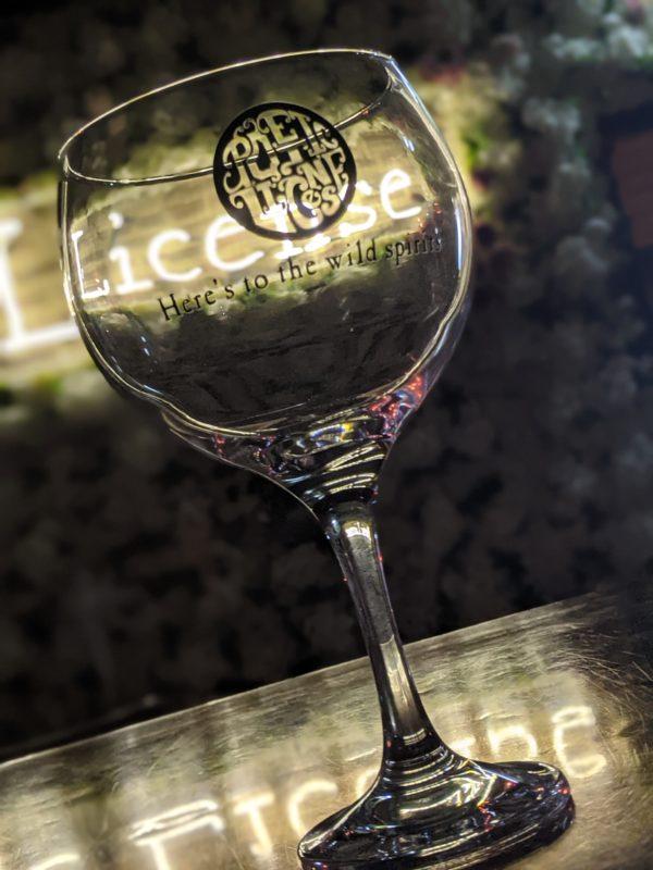 Poetic License Distillery Glass