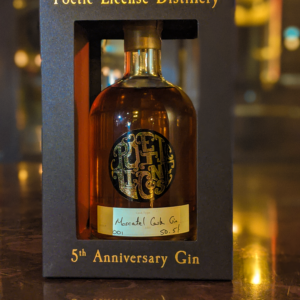 5th Anniversary Gin - Moscatel Aged Cask Gin | Poetic License Distillery