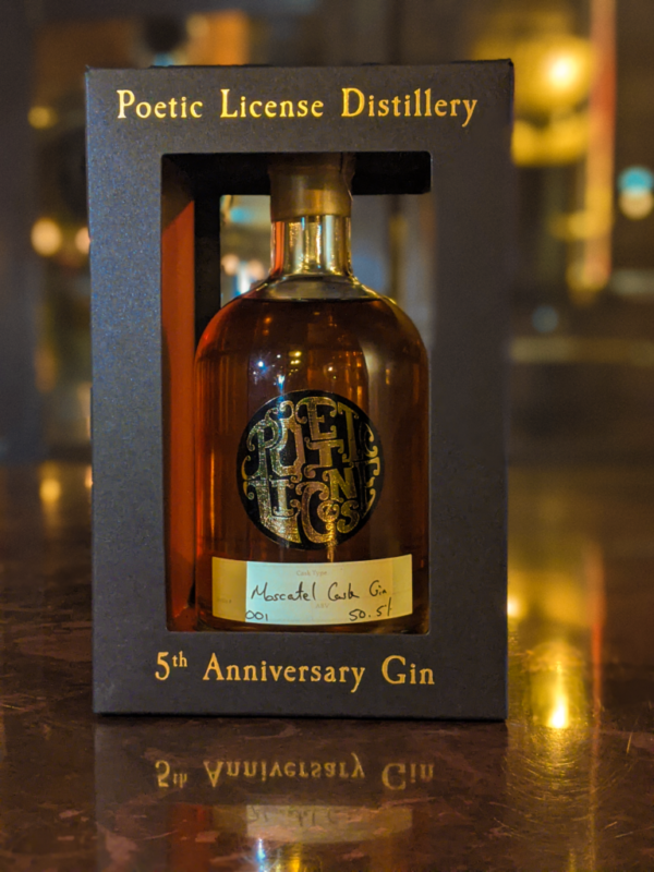 5th Anniversary Cask Aged Gin - Moscatel