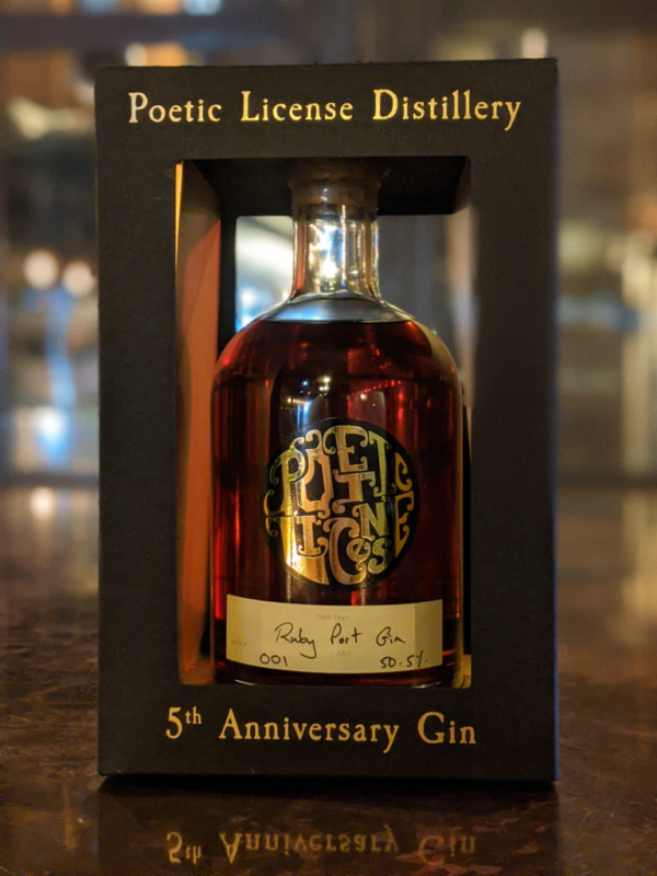 5th Anniversary Gin - Ruby Port Aged Cask Gin | Poetic License Distillery